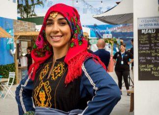 Greek Dancer Smiling