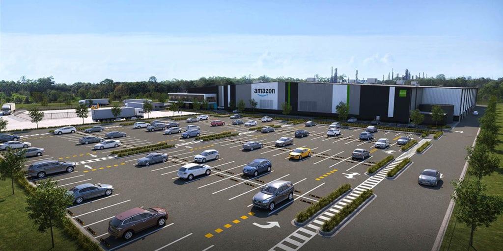 Amazon Brisbane fulfilment centre render