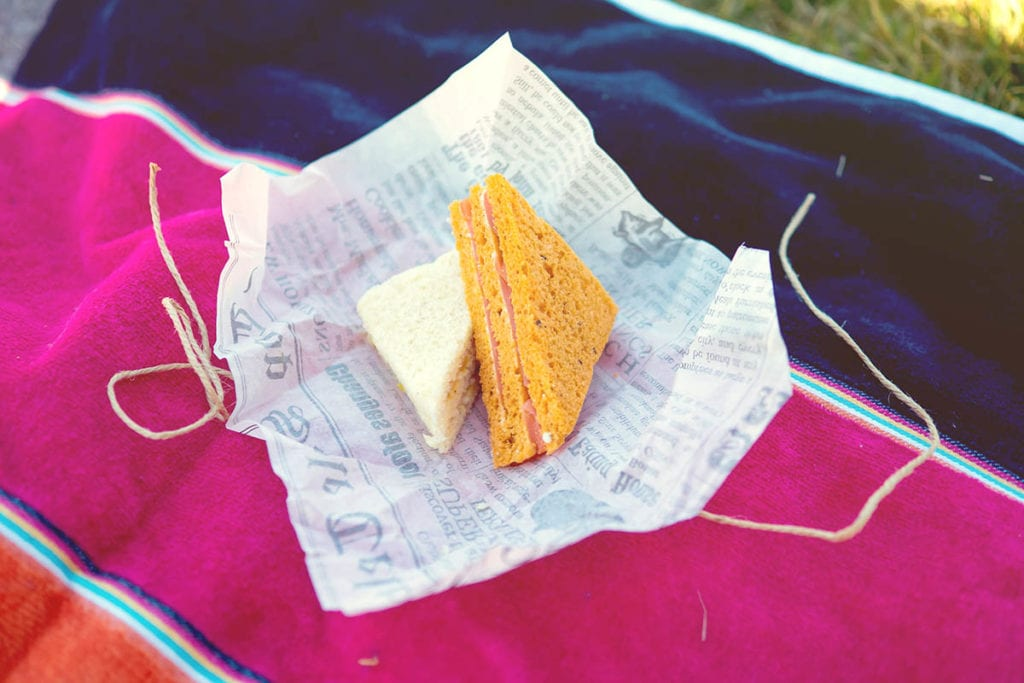 sandwiches at a picnic