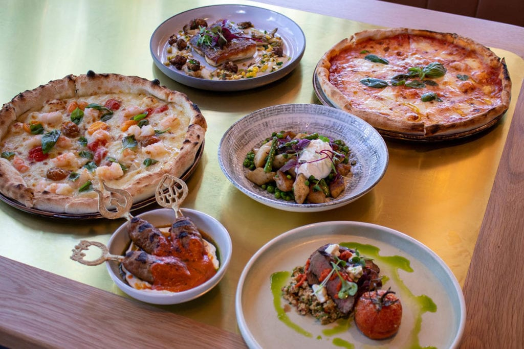 Selection of food dishes