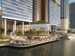 Artist's impression of the riverfront promenade