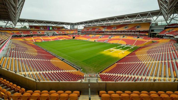 Empty Queensland stadium