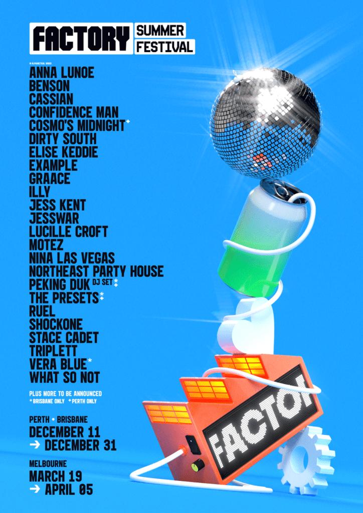 Factory Summer Festival Line-Up