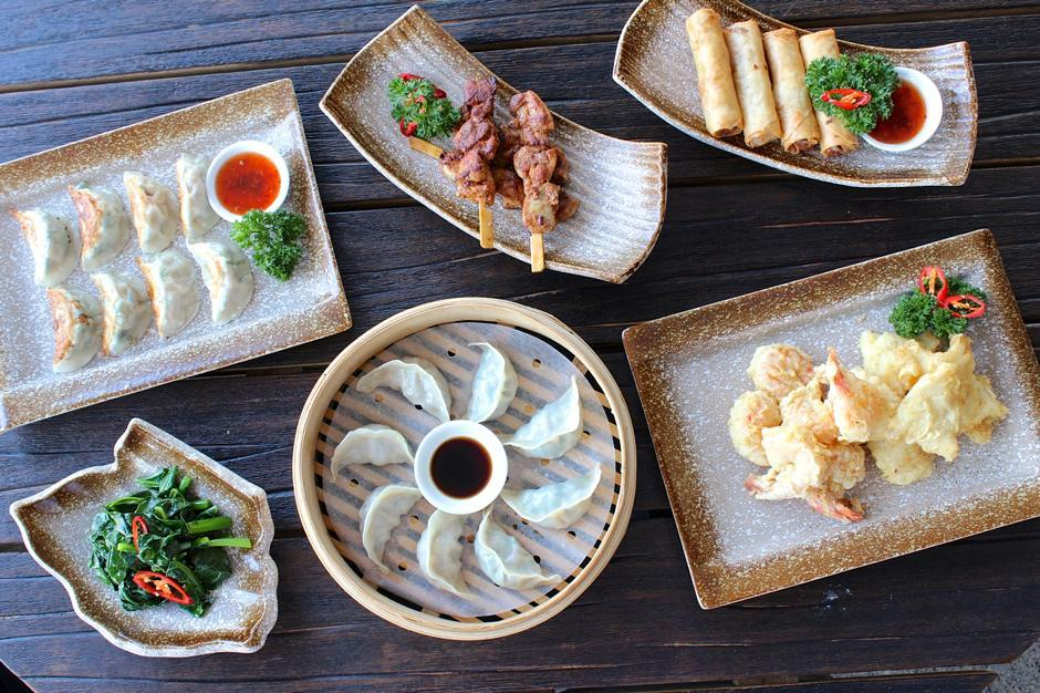Fat Dumpling Bar table spread