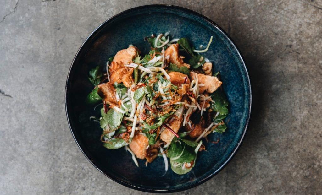 Fish Salad at The Golden Pig