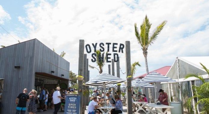 sandstone point oyster shed