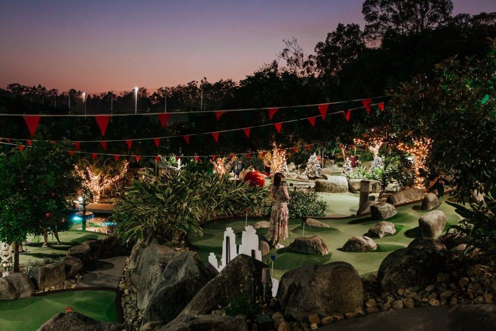 Victoria Park Putt Putt Xmas Course Night View