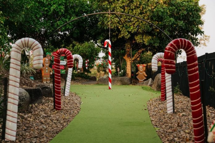 Victoria Park Putt Putt Xmas Course candy canes