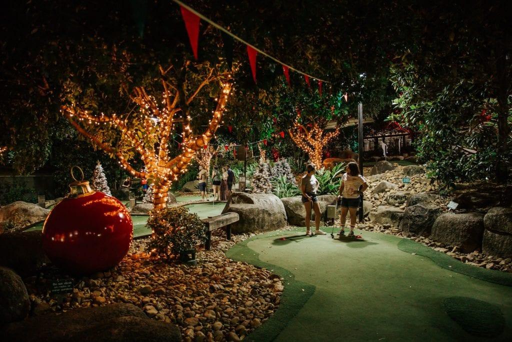 Victoria Park Putt Putt Xmas Course Night