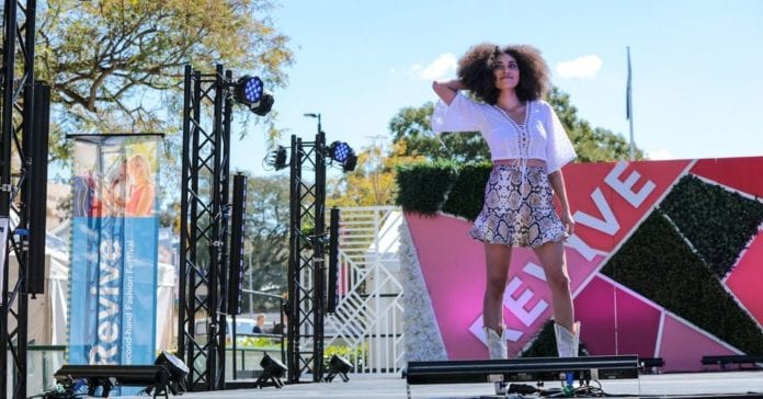 revive second hand fashion festival catwalk
