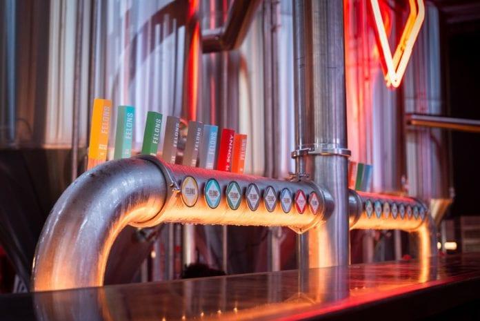 felons beer hall taps
