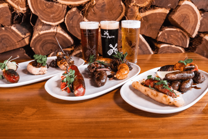Gourmet Sausage and Beer Festival Spread