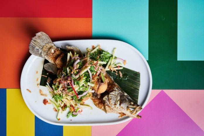 Naga Thai Wok Fried Barramundi