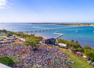 Sandstone Point Arial Stage View