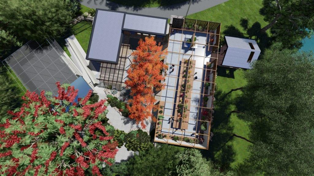 brisbane bonsai house aerial