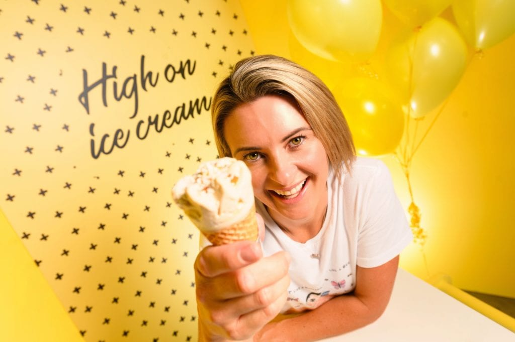 Day Dreams and Ice Creams yellow pop up